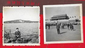 1966年【文革北京老照片一以图为准、】二张。品如图。品如图。