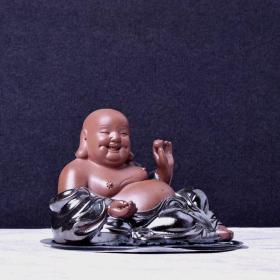 紫砂弥勒佛摆件/神情维妙维肖/大肚能容,容天下难容之事;开口便笑,笑世间可笑之人。