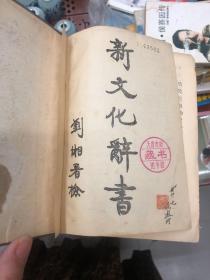 中华民国十二年初版《新文化辞书》  馆藏  书脊破损 书内内容完整.干净