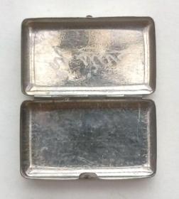 西洋古董迷你银首饰盒药盒