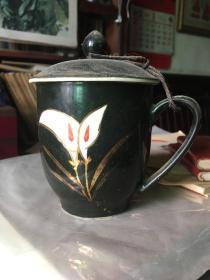 宣化二瓷黑釉茶杯