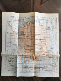 少见《苏州老地图》(soochow) 英文标注绘制,精美可藏(尺寸21.5X19.5厘米)