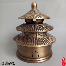 铜器精工铜香炉天坛香炉熏香炉檀香炉家用茶道熏香炉