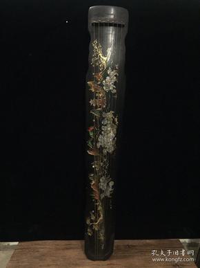 镶贝壳古琴,尺寸123x20x9.8厘米