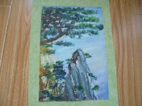 名家手绘油画《泰山后石坞》