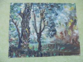 名家手绘油画《夏季的尾声》