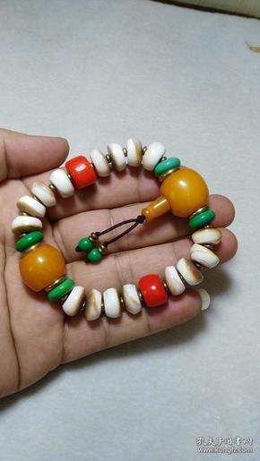 藏传雅玩多宝串 佛教八宝之一 材质珍贵 极其少见
