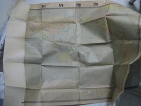 世界地图(1:400万)[两拼全开]