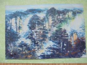 名家手绘油画《江山多娇》