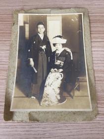 民國初期日本《結婚紀念》照片一枚