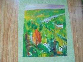 名家手绘油画《绿色家园》