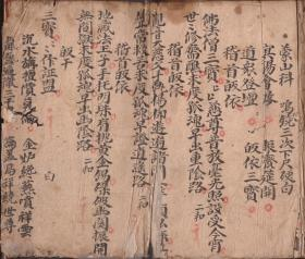 道教符法本 符书 《海口燄》64筒页