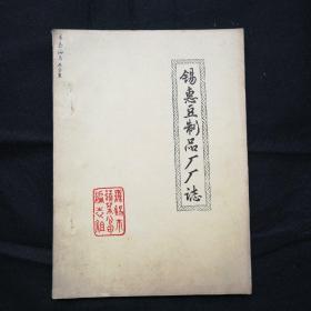 1987年 油印本 16开 无锡《锡惠豆制品厂厂志》