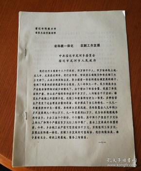 1992年宿迁市龙河乡科技兴市经验介绍