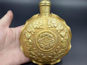 辽金时期银鎏金酒壶 银鎏金金器,包浆醇厚,难得古朴神韵沁色自然值得收藏