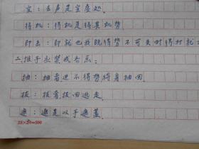 【摘太极拳法实践】王新午,手抄2页