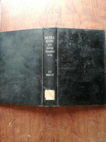 【2621   BI0LOGICAL REVIEWS生物學評論 1925年1923-1927、1--2  外文原版  精裝