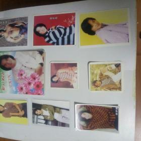 郑伊健照片,贺年卡,明信片,明星卡共九张同售。