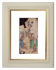 手绘《道教人物画像》移动的壁画、人物描绘栩栩如生、充满着沧桑的残缺美 5