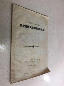1963年-1964年粮食机构商品流转统 计制度【1962年版印】