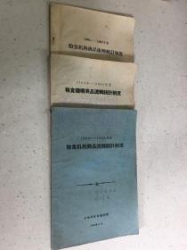 1963-1964年、1964-1965年、1966-1967年粮食机构商品流转统 计制度【共三册合售】