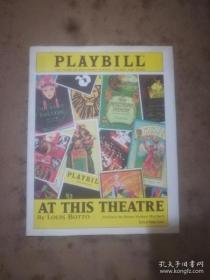 PLAYBILL At This Theatre