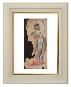手绘《道教人物画像》移动的壁画、人物描绘栩栩如生、充满着沧桑的残缺美 11