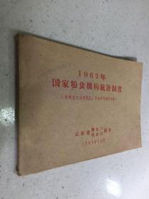 1962年国家粮食机构统 计制度【1961年版印】
