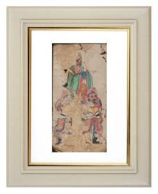 手绘《道教人物画像》移动的壁画、人物描绘栩栩如生、充满着沧桑的残缺美 15