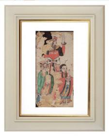 手绘《道教人物画像》移动的壁画、人物描绘栩栩如生、充满着沧桑的残缺美 16