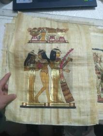 埃及纸草画 (弹琴像)