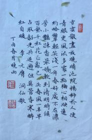 【保真】中国硬笔书法家协会会员、贵州省书协会员胡晓雨作品:李元膺《洞仙歌》