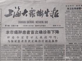 报头     上海大众卫生报   行书