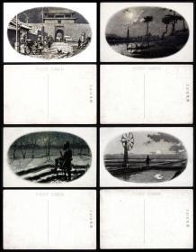 满洲国天下第一关等风光明信片 8枚