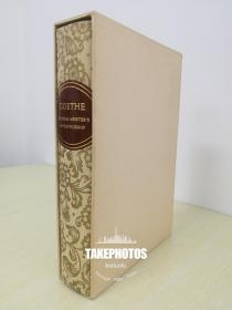 Goethe Wilhelm Meisters Apprenticeship  《歌德:威廉·麦斯特的学习时代》Limited Edition Club 1500本 精装限量版 石刻版画插图,画家亲笔签名版 本册编号1319