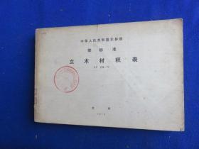 立木材积表LY-208-77【二元立木材 中华人民共和国农林部标准 1978年1月1日起草实施 附录二元导算一元的方法】