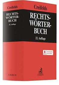 德国原版 德文 德语 法律专业词典 Rechtswörterbuch 最新第22版 Creifelds