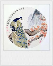 禽鸟国画原画(卡宣,可直接装框)