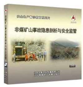 2019年安全月 非煤矿山事故隐患剖析与安全监管 2DVD教育视频光盘9F05g
