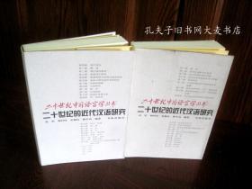 《二十世纪的近代汉语研究》上.下/册