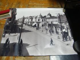 五六十年代哈尔滨市靖宇大街照片(60*50厘米)
