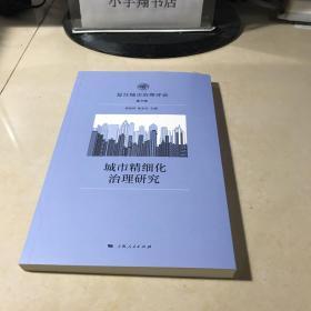 城市精细化治理研究
