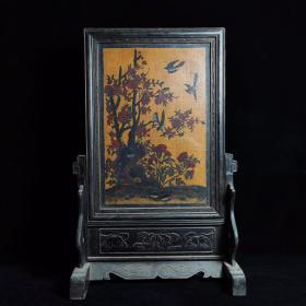 老木胎漆器插屏宽47.5厘米,高75厘米