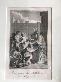十八世纪欧洲版画 凹版 圣经故事 外框尺寸:30×25cm 可摆可挂  54