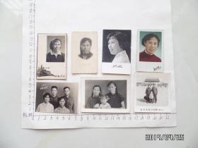 同一人的老照片(六七十年代的共7张合售,有一张1966年的彩色照,详见图S)