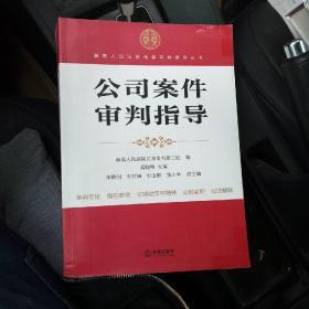 最高人民法院商事审判指导丛书:公司案件审判指导
