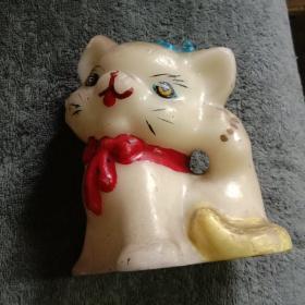 老蜡塑猫(塑料猫 玩具猫)蜡制玩具猫