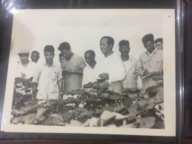 新华社老照片-毛泽东同志视察河南省新乡县七里营人民公社,给贫下中农指明了继续前进的方向