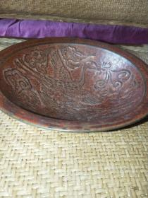 宋 定窑紫金釉镂空雕碗