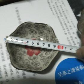 日本山田烧 手绘 釉下彩小盘一对  釉色细腻  手绘精美 保真 .实用收藏两相宜】